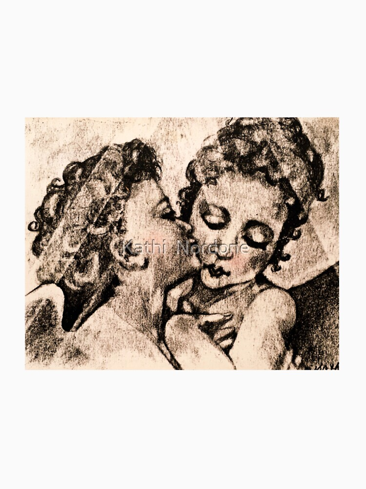 """Angel Kiss"" Kathi Nordone Original Sketch 1986 by kathinordone"