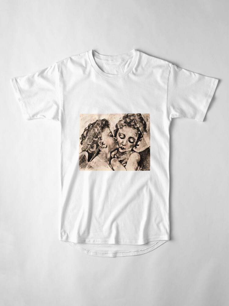 "Alternate view of ""Angel Kiss"" Kathi Nordone Original Sketch 1986 Long T-Shirt"