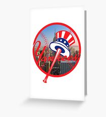 New York Yankees NYC Logo Greeting Card