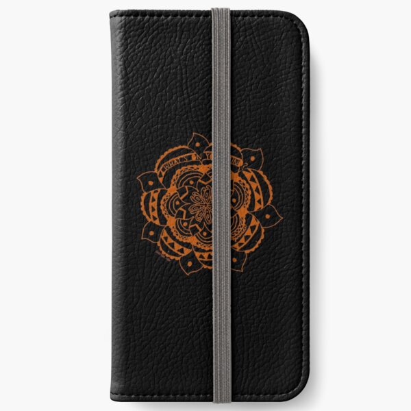 What's On Your Mind Red/Black Kolam iPhone Wallet
