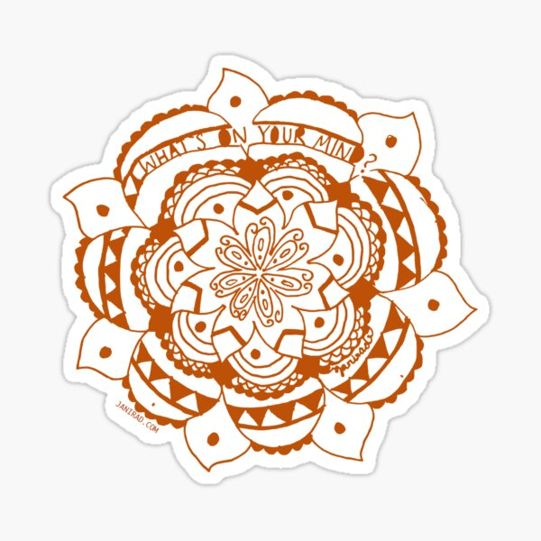 What's On Your Mind Red/White Kolam Sticker