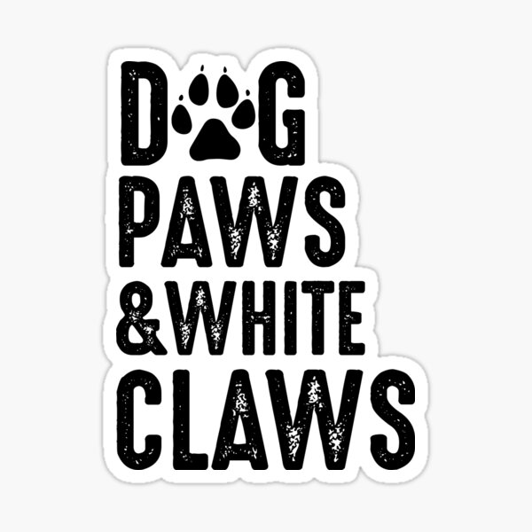 Dog paws and white claw  Sticker