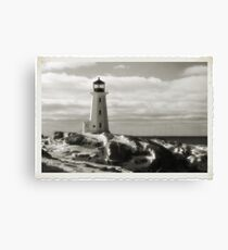 Lighthouse at Peggy's Cove Jan 22, 2016 Canvas Print