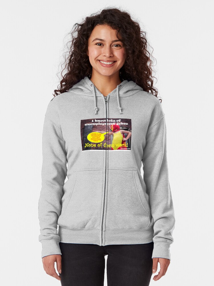 Alternate view of Unemployment Zipped Hoodie