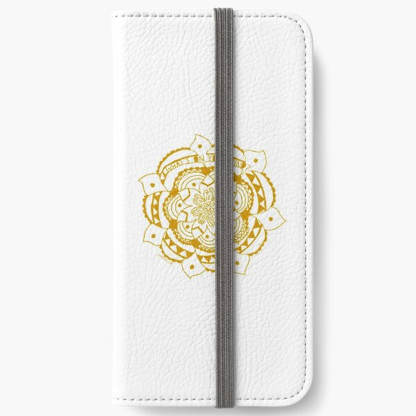 What's On Your Mind Yellow/White Kolam iPhone Wallet