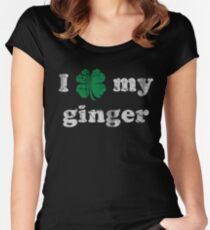 I Shamrock My Ginger St Patrick's Day Women's Fitted Scoop T-Shirt