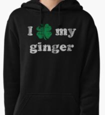I Shamrock My Ginger St Patrick's Day Pullover Hoodie