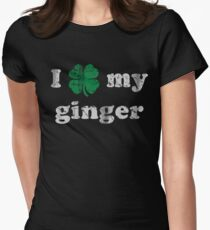 I Shamrock My Ginger St Patrick's Day Women's Fitted T-Shirt