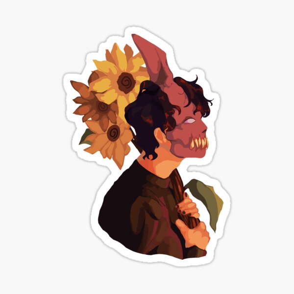 Corpse Husband With Sunflowers Sticker