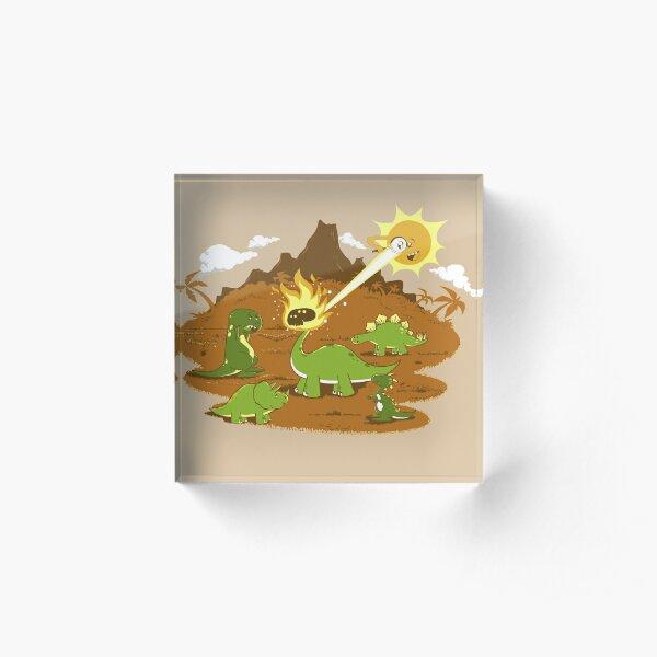 Dinos having fun in the SUN! Acrylic Block