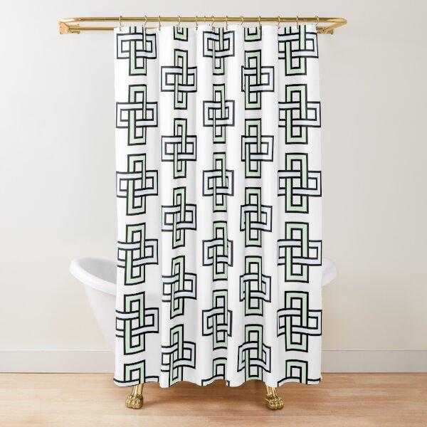 Solomon's knot Shower Curtain