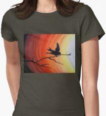 Bird silhouette at dawn T-Shirt