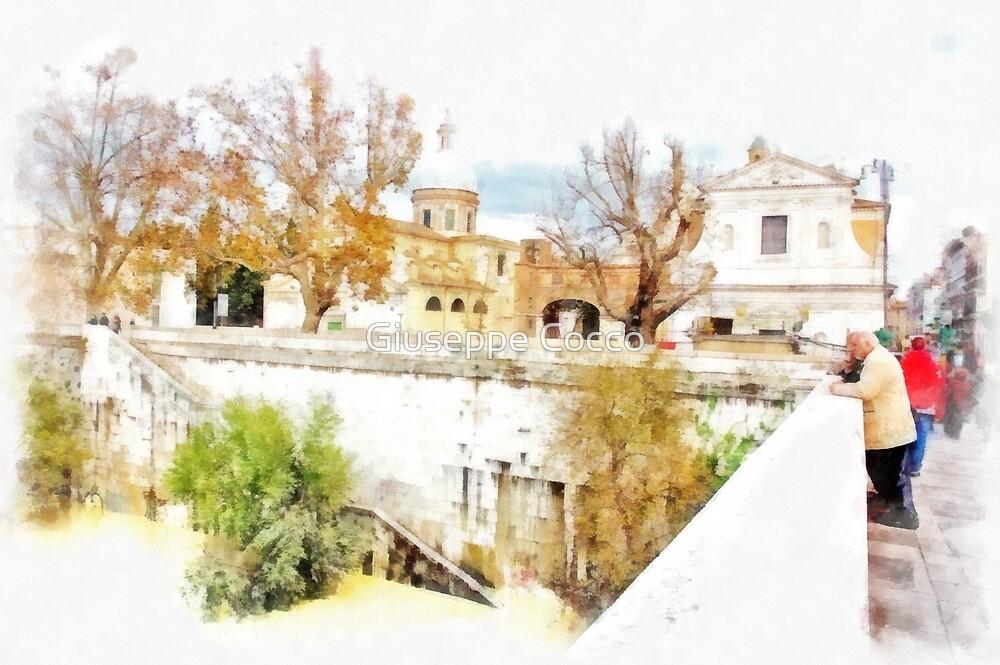 River Tevere by Giuseppe Cocco