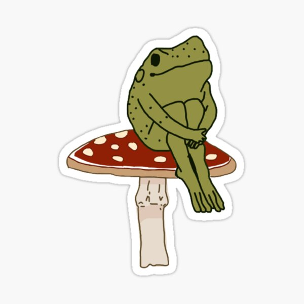 frog on mushroom  Sticker