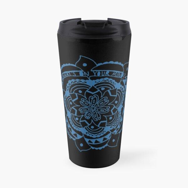 What's On Your Mind Blue/Black Kolam Travel Mug