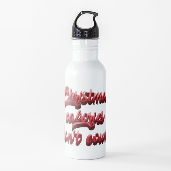 Christmas calories Water Bottle