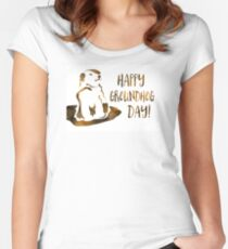 happy groundhog day Women's Fitted Scoop T-Shirt