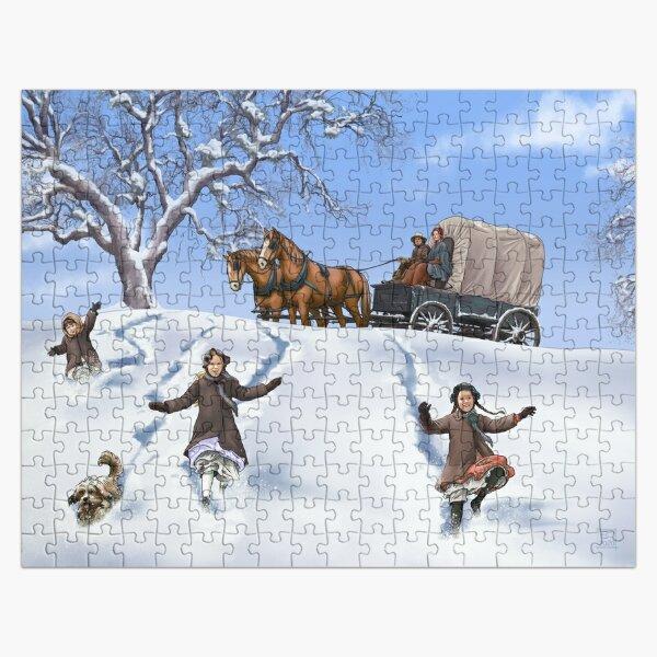 Famille Prairie dans la neige Puzzle