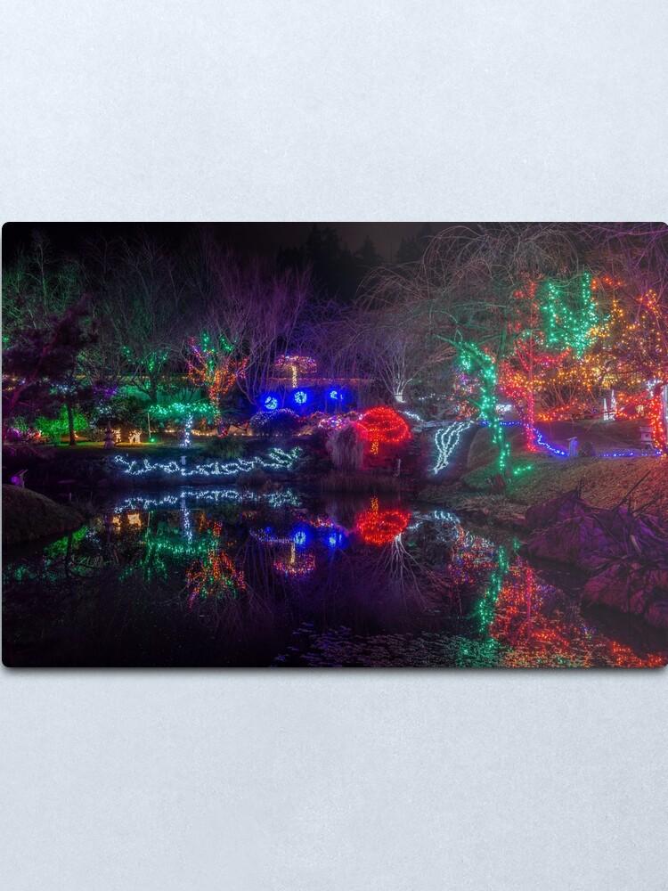 Alternate view of Japanese Gardens Mayne Island Christmas 5 Metal Print