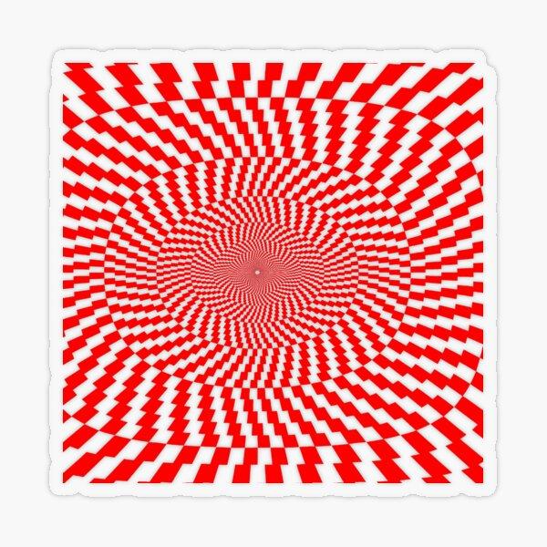 Optical Illusion, Visual Illusion, Physical Illusion, Physiological Illusion, Cognitive Illusions Transparent Sticker
