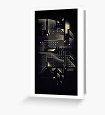 Composition of golden abstract geometry #2 Greeting Card