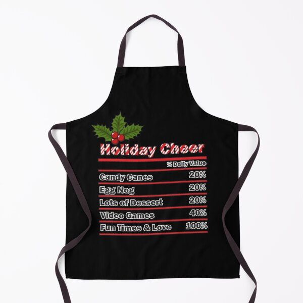Holiday Cheer with Family, Friends, and Loved Ones with Holly. Apron