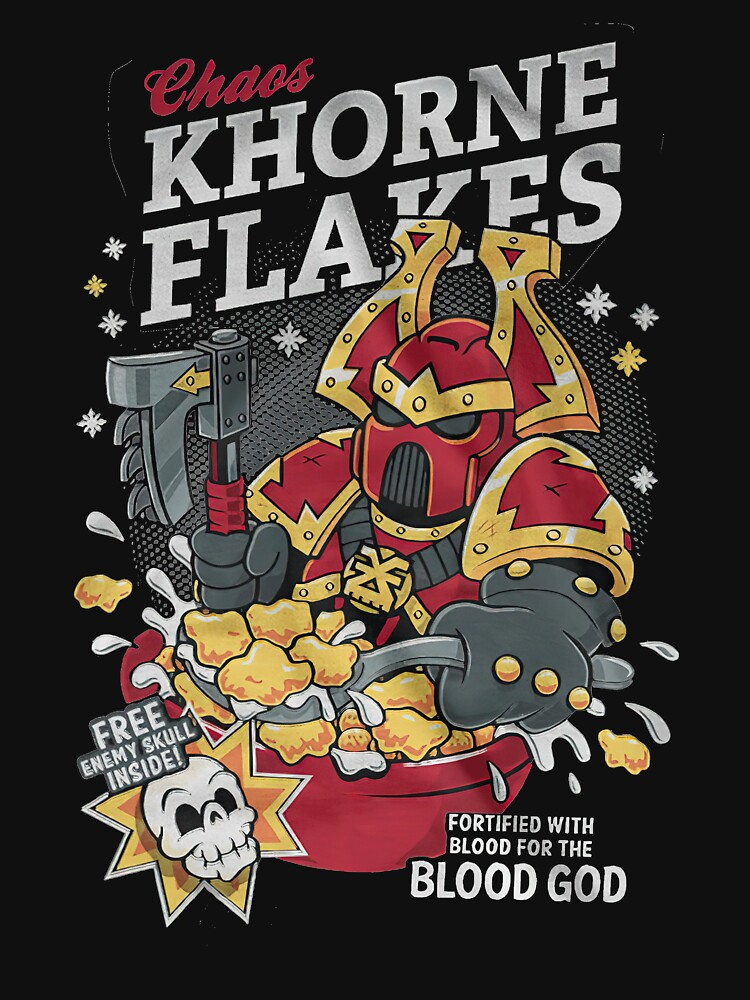 Chaos khorne flakes Fortified with blood for the blood god by UnderwoodClayto