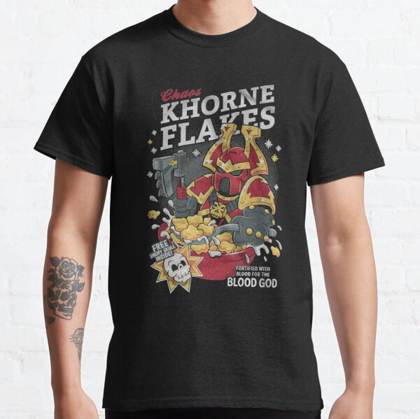 Chaos khorne flakes Fortified with blood for the blood god Classic T-Shirt