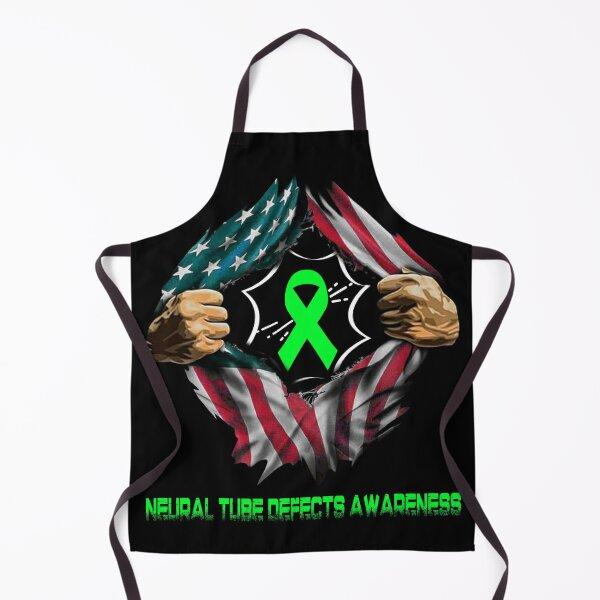 Neural Tube Defects Awareness American Flag Apron