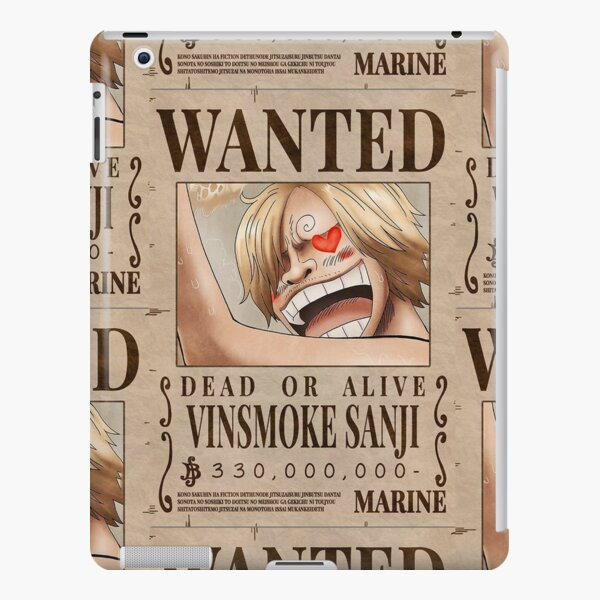 Sanji Wanted Poster One Piece Ipad Case Skin By Mrbeast0 Redbubble