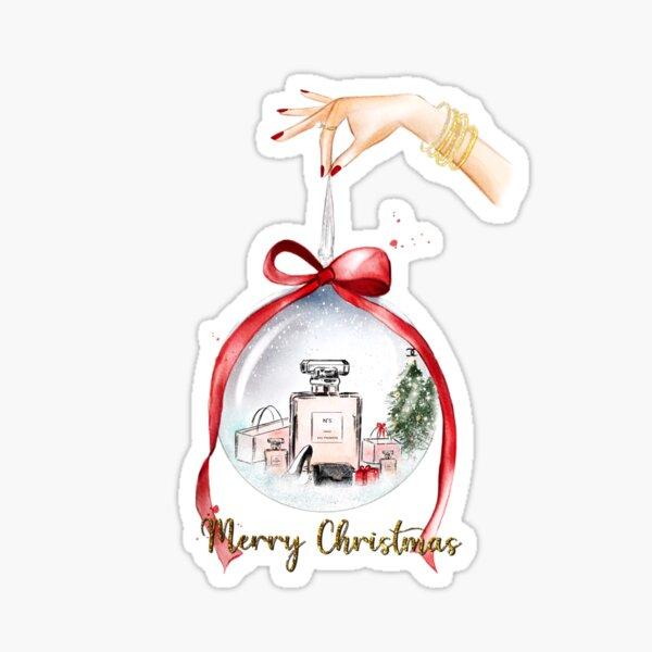 Christmas snow globe of goodies Sticker