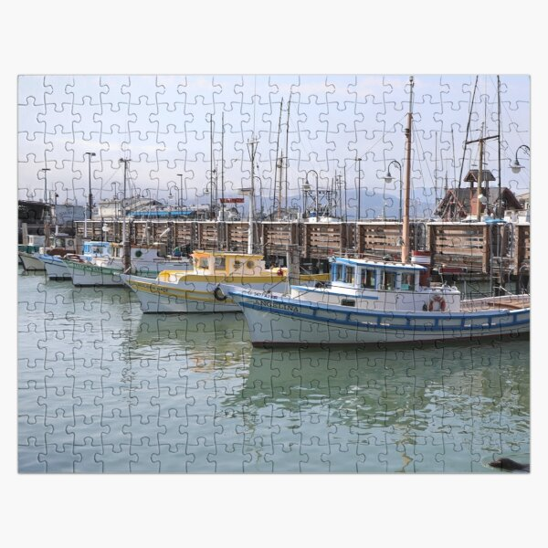 Boat Dock at Fisherman Wharf Jigsaw Puzzle