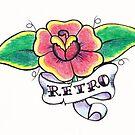 Retro Flower Tattoo by Andy  Housham