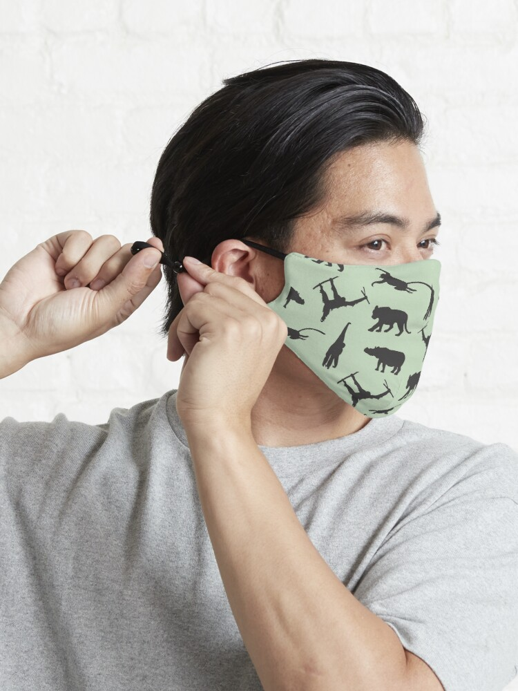 Alternate view of South East Asian Endangered Animal Pattern Mask