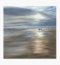 Dog Walkers on a Winter's Morning, Seaburn Photographic Print