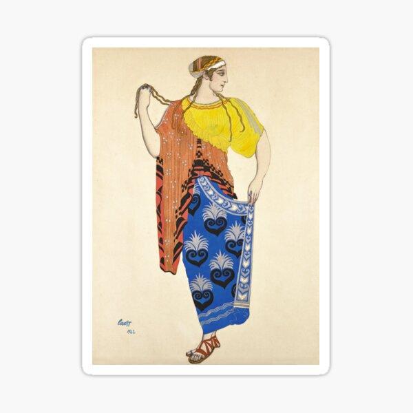 Ancient Greek Costume Painting Sticker