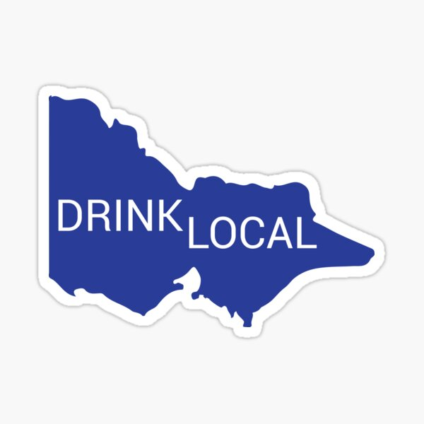 Drink Local VIC state Sticker