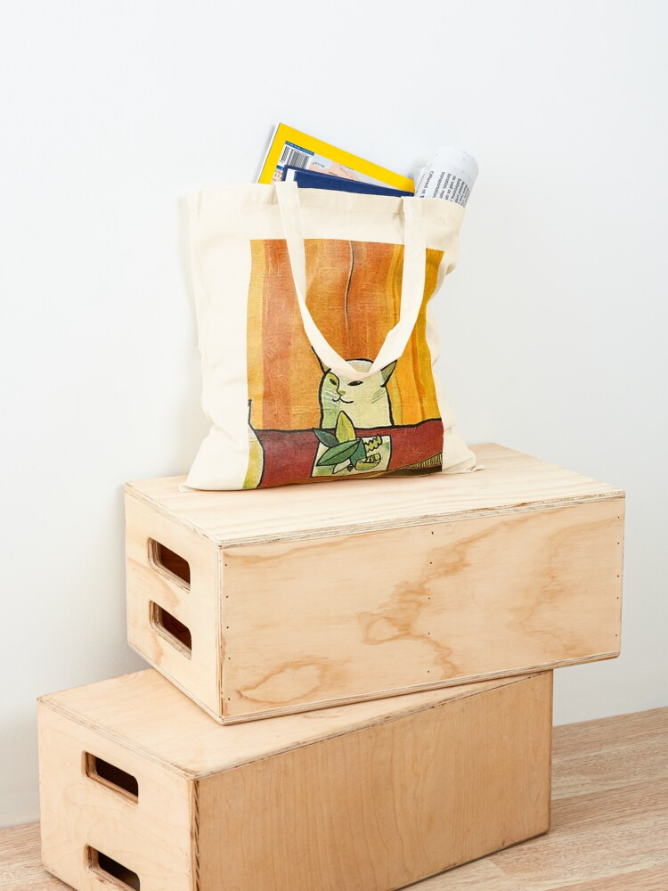Alternate view of Picasso Cat Meme Paint Tote Bag
