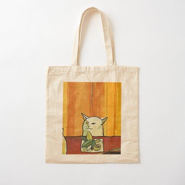 Picasso Cat Meme Paint Cotton Tote Bag