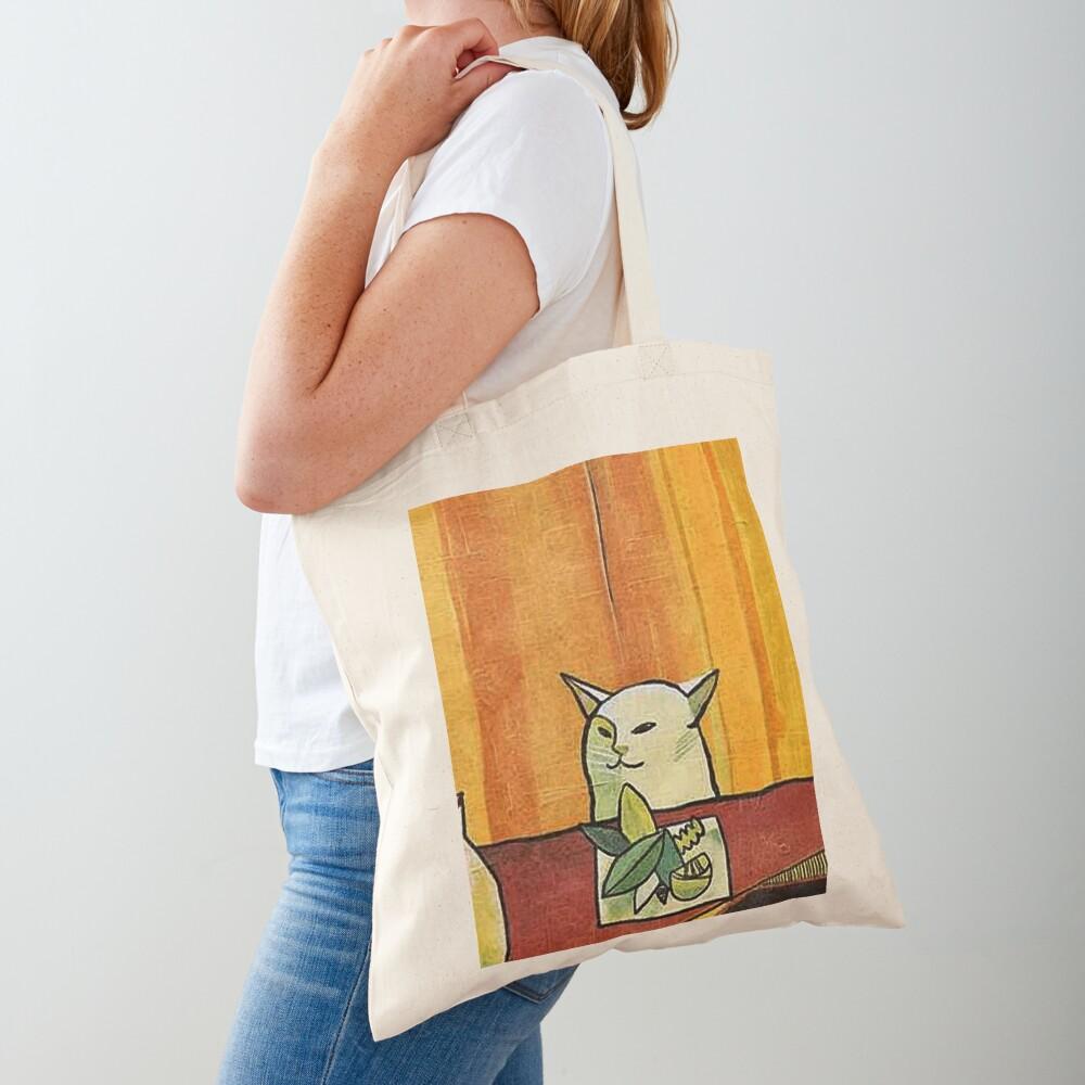 Picasso Cat Meme Paint Tote Bag