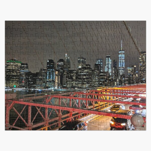 View of New York From Brooklyn Bridge Jigsaw Puzzle