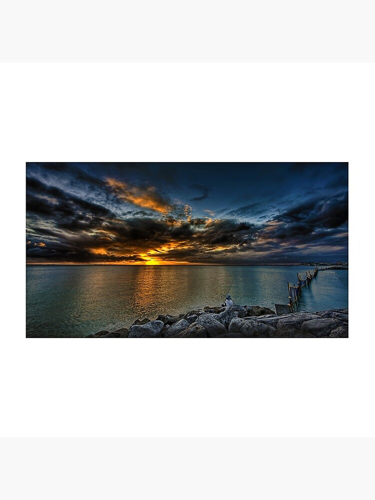 Denver Art Gallery, Sunset Beach Seawall in Okinawa by DenverGallery
