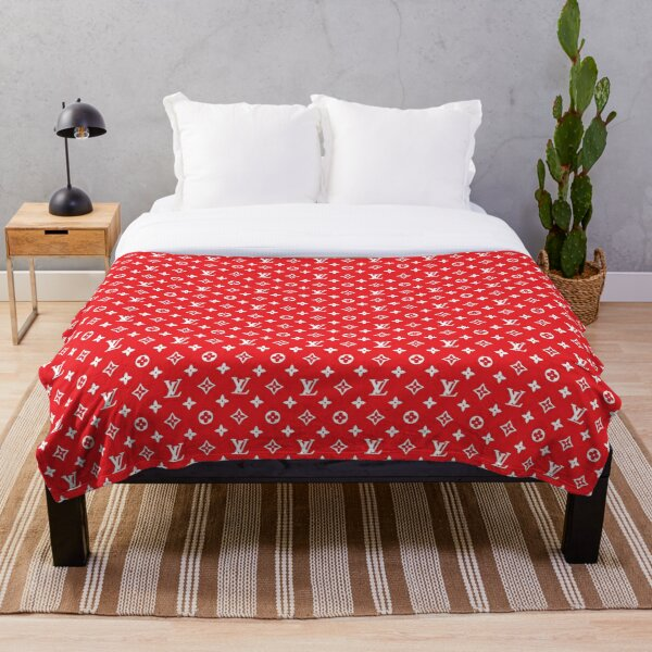 Louis V in red Throw Blanket