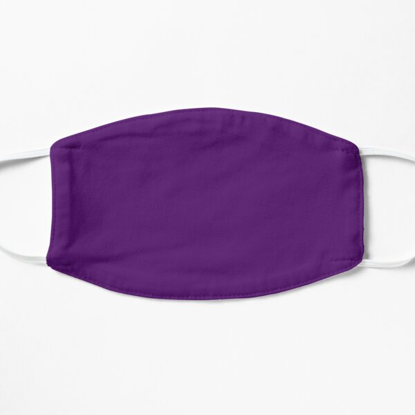 Royal Purple Solid Color Flat Mask