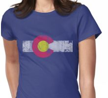 Vintage State Flag of Colorado Womens Fitted T-Shirt