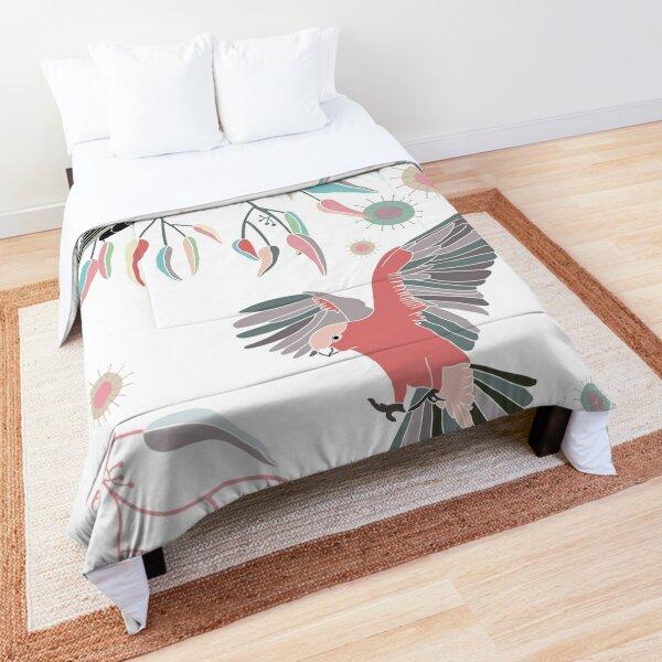 Australian Galah Cockatoos in Gum Trees  Comforter