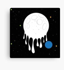 painted moon Canvas Print