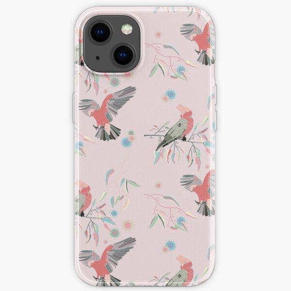 Australian Galah Cockatoos in Gum Trees Light Pink iPhone Soft Case