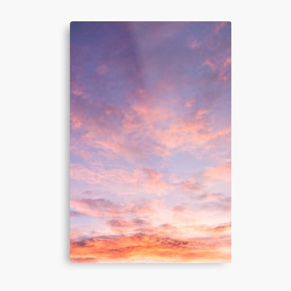 Clouds Beautiful Skyscape Pink Metal Print