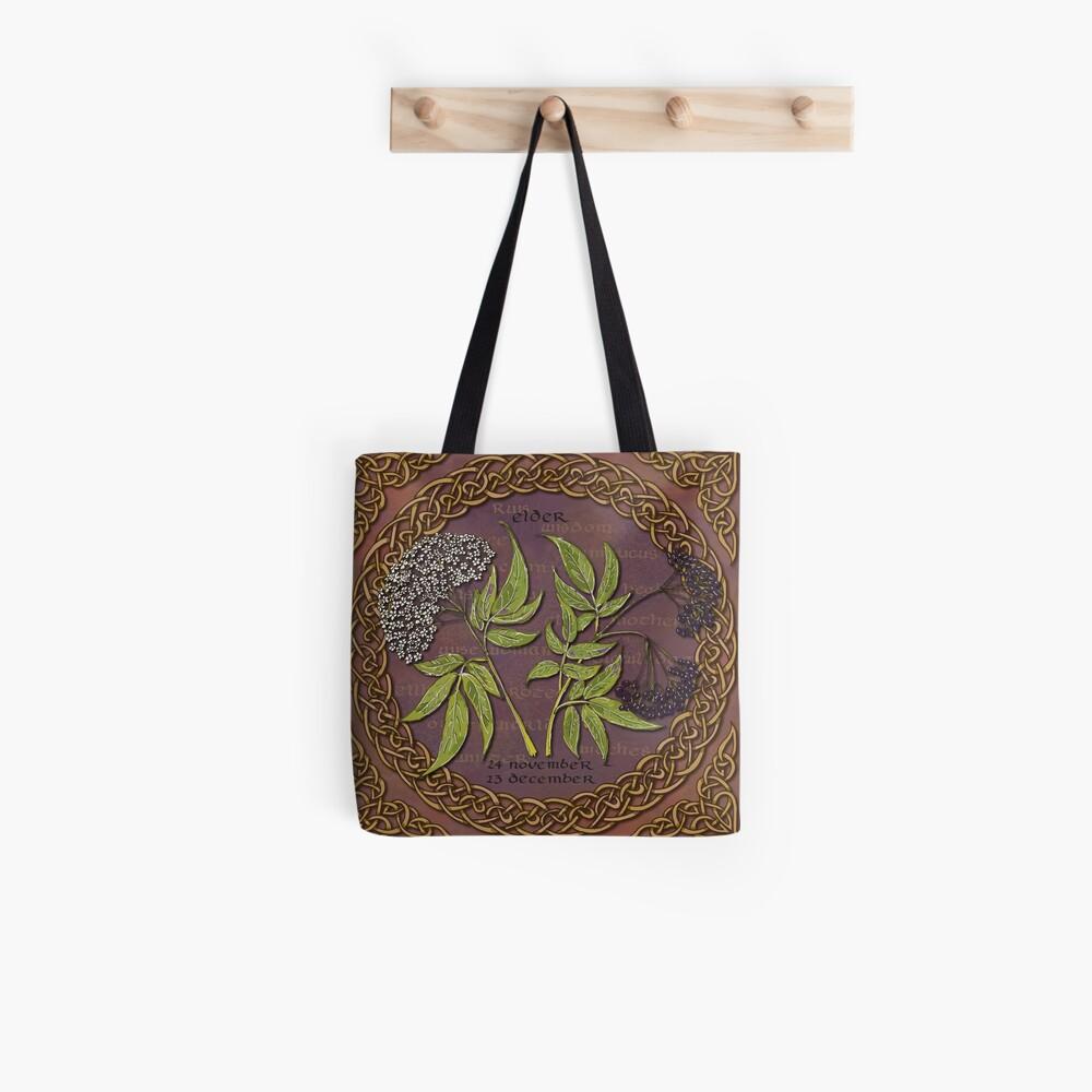 Celtic Tree Calendar Elder Tote Bag